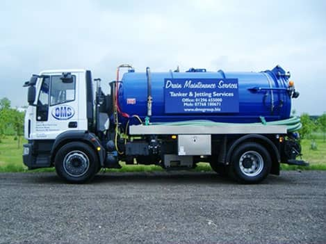 DMS's cess pit and septic tank emptying tanker