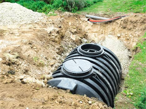 Sewage pipe installation